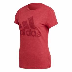 T-shirt Adidas Winners Rouge Femme
