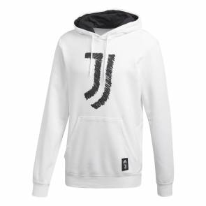 Sweat à Capuche Adidas Juventus Dna Graphic Blanc