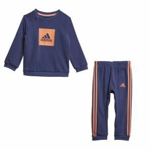 Survêtement Adidas 3-stripes Logo Bleu / Orange Bebe