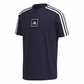 T-shirt Adidas 3-stripes Tape Bleu Marine