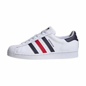 Adidas Superstar Blanc / Bleu / Rouge