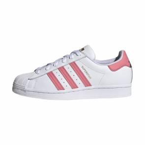 Adidas Superstar Blanc / Rose Femme