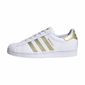 Adidas Superstar Blanc / Or Femme