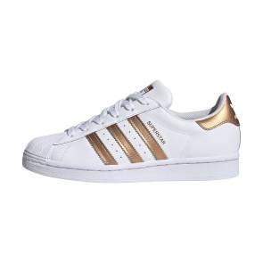 Adidas Superstar Blanc / Bronze Femme