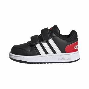 Adidas Hoops Noir / Rouge Bebe