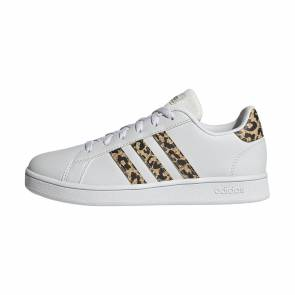 Adidas Grand Court Blanc / Leopard Enfant