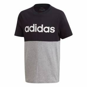 T-shirt Adidas Linear Colorblock Noir / Gris Enfant