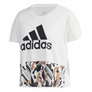 T-shirt Adidas U-4-u Crop Blanc Femme