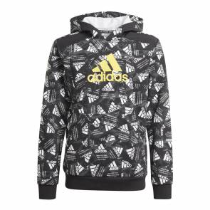 Sweat Adidas Print Logo Noir / Jaune Enfant