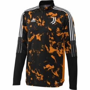 Training Top Adidas Juventus Turin Aop 2020-21 Noir / Orange