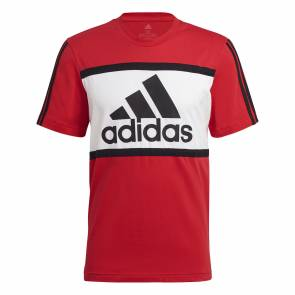 T-shirt Adidas Colorblock Rouge