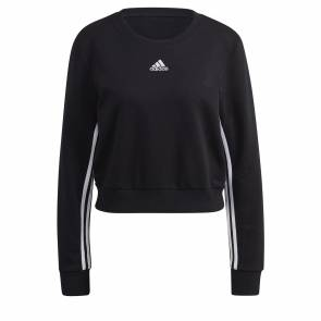 Sweat Adidas 3-stripes Crop Noir Femme