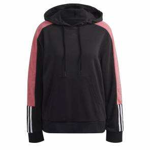Sweat Adidas Essentials Logo Colorblock Noir / Rose Femme