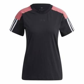 T-shirt Adidas Essentials Logo Colorblock Noir / Rose Femme