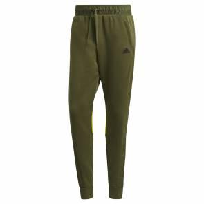 Pantalon Adidas Sportswear Fabric Block Kaki / Jaune
