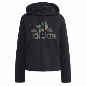 Sweat Adidas Essentials Camo Logo Noir Femme