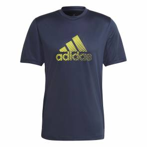 T-shirt Adidas Activated Tech Aeroready Bleu