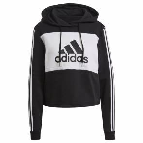Sweat Adidas Colorblock Cropped Noir / Blanc Femme