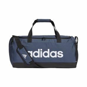 Sac De Sport Adidas Essentials Logo Format Moyen Bleu