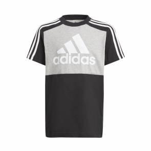 T-shirt Adidas Colorblock Gris / Noir Enfant