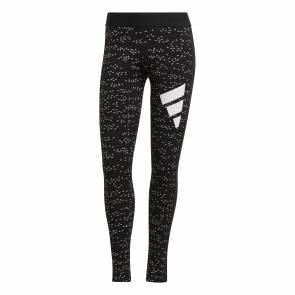 Collants Adidas Sportswear Allover Print Noir Femme
