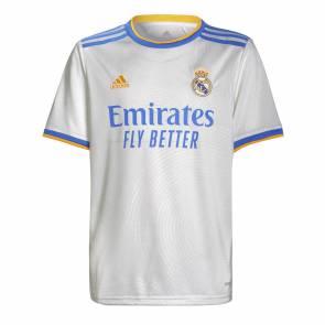 Maillot Adidas Real Madrid Domicile 2021-22 Blanc Enfant