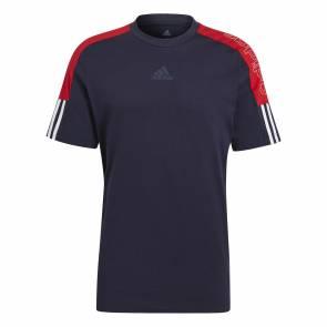 T-shirt Adidas Essentials Logo Bleu / Rouge
