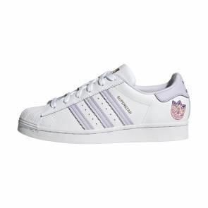 Adidas Superstar Blanc / Violet Femme
