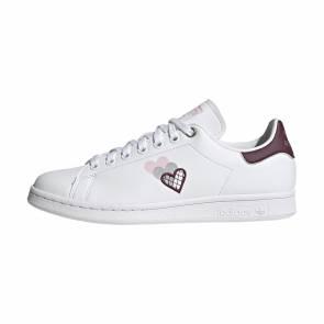 Adidas Stan Smith Blanc / Prune Femme