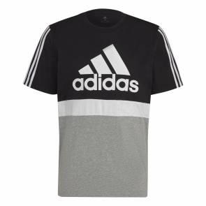 T-shirt Adidas Colorblock Noir / Gris