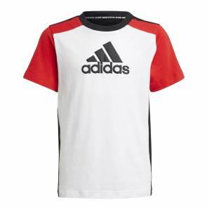 T-shirt Adidas Logo Blanc / Noir / Rouge Enfant
