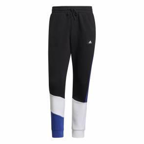 Pantalon Adidas Colorblock Noir / Bleu