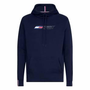 Sweat Tommy Hilfiger Logo Fleece Bleu Marine
