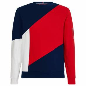 Sweat Tommy Hilfiger Blocked Terry Bleu / Rouge