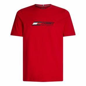T-shirt Tommy Hilfiger Logo Rouge
