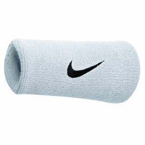 Poignets Nike Swoosh Double Blanc