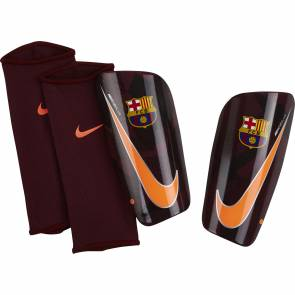 Protège tibias Nike Mercurial Lite Barcelone Bordeaux / Orange