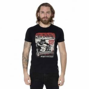 T-shirt Von Dutch Race Print Noir